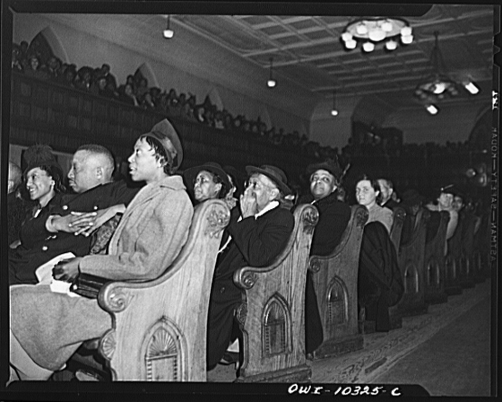 Washington, D.C. Audience at the citizen's committee mass meeting