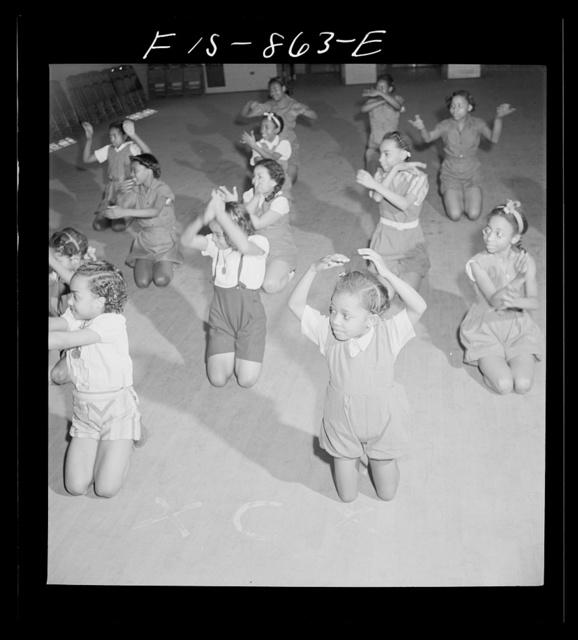 Washington, D.C. Dancing class in a Negro grammar school