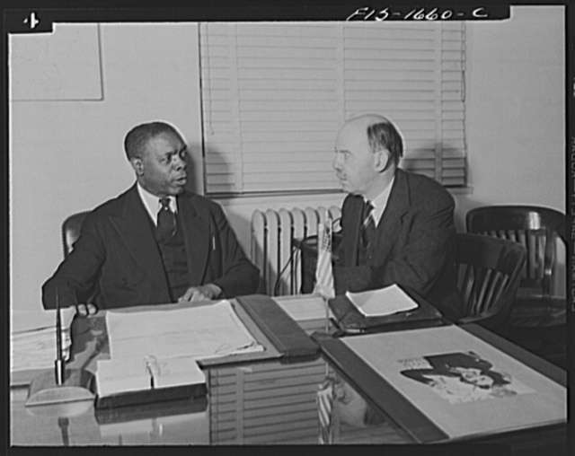Washington, D.C. Dean William Pickens and James L. Houghteling of the United States Treasury Department. Houghteling is director of the Division of National Organizations