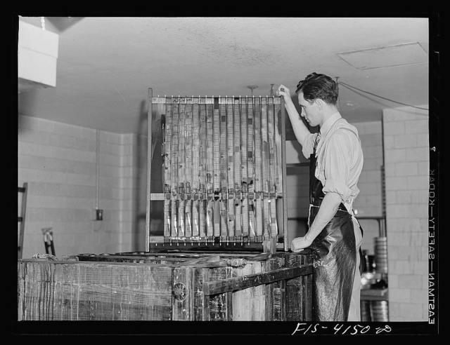 Washington, D.C. Developing microfilm. Library of Congress