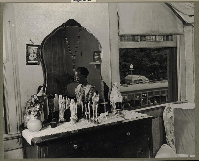Washington, D.C. Dresser in the bedroom of Mrs. Ella Watson, a government charwoman