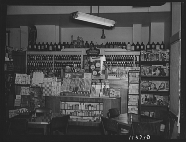 Washington, D.C. Interior of a drugstore on 14th Street, N.W.