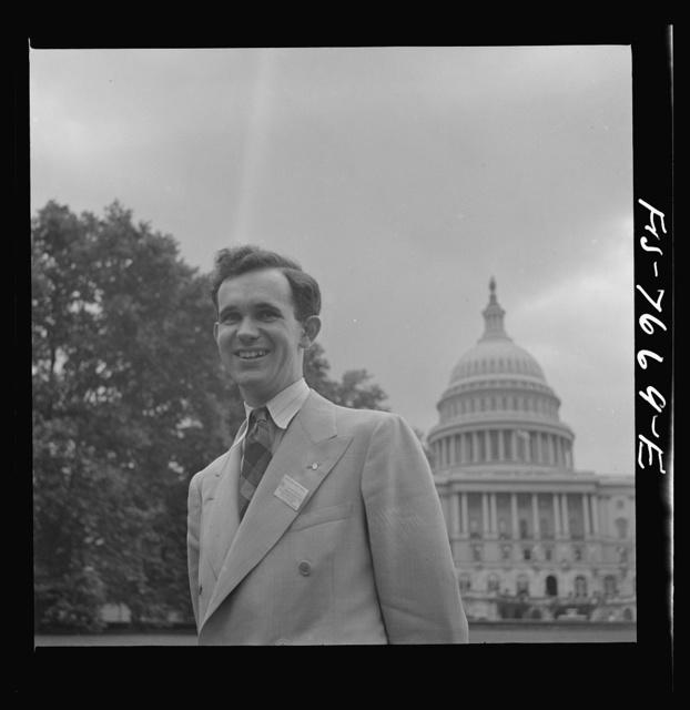 Washington, D.C. International student assembly. Bryan J. Kellaway, a delegate from Australia
