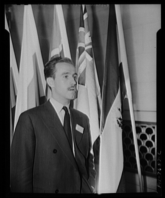 Washington, D.C. International student assembly. Eduardo Baranano, a delegate from Uruguay