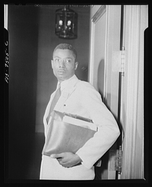 Washington, D.C. International student assembly. Julius B.C. Etuka Okala, a delegate from Nigeria