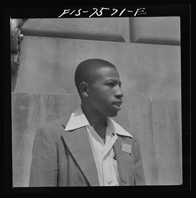 Washington, D.C. International student assembly. Theodore R. Johnson, a delegate from Tuskegee Institute