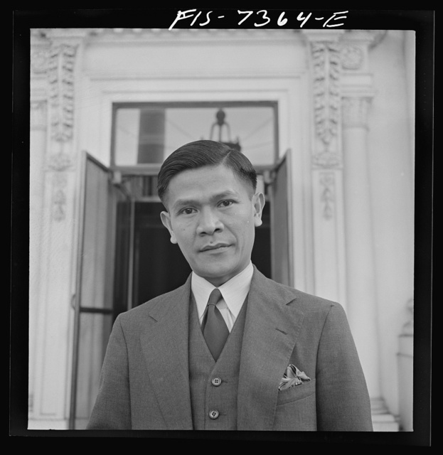 Washington, D.C. International youth assembly. Dutch East Indies delegate