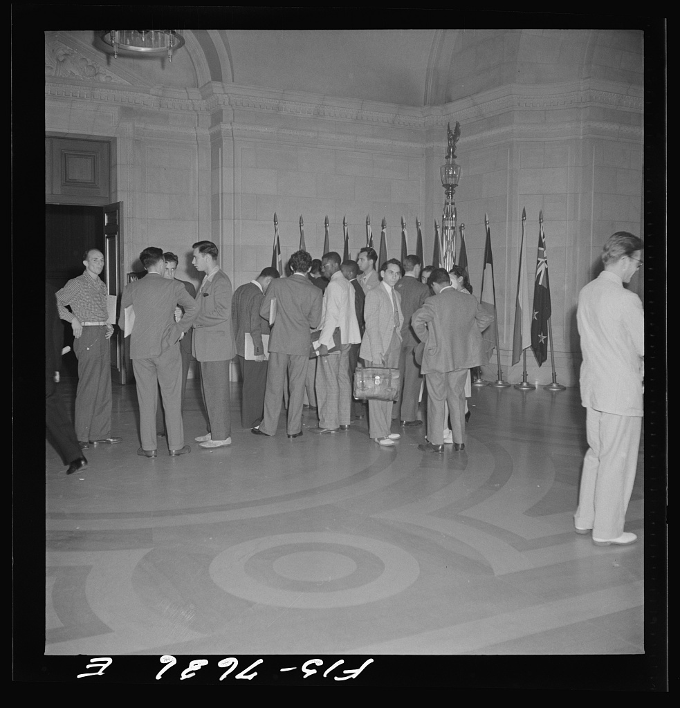 Washington, D.C. International youth assembly. In the lobby outside of the auditorium