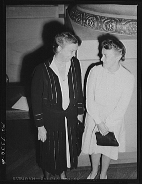 Washington, D.C. International youth assembly. Mrs. Roosevelt with the delegate from Sweden