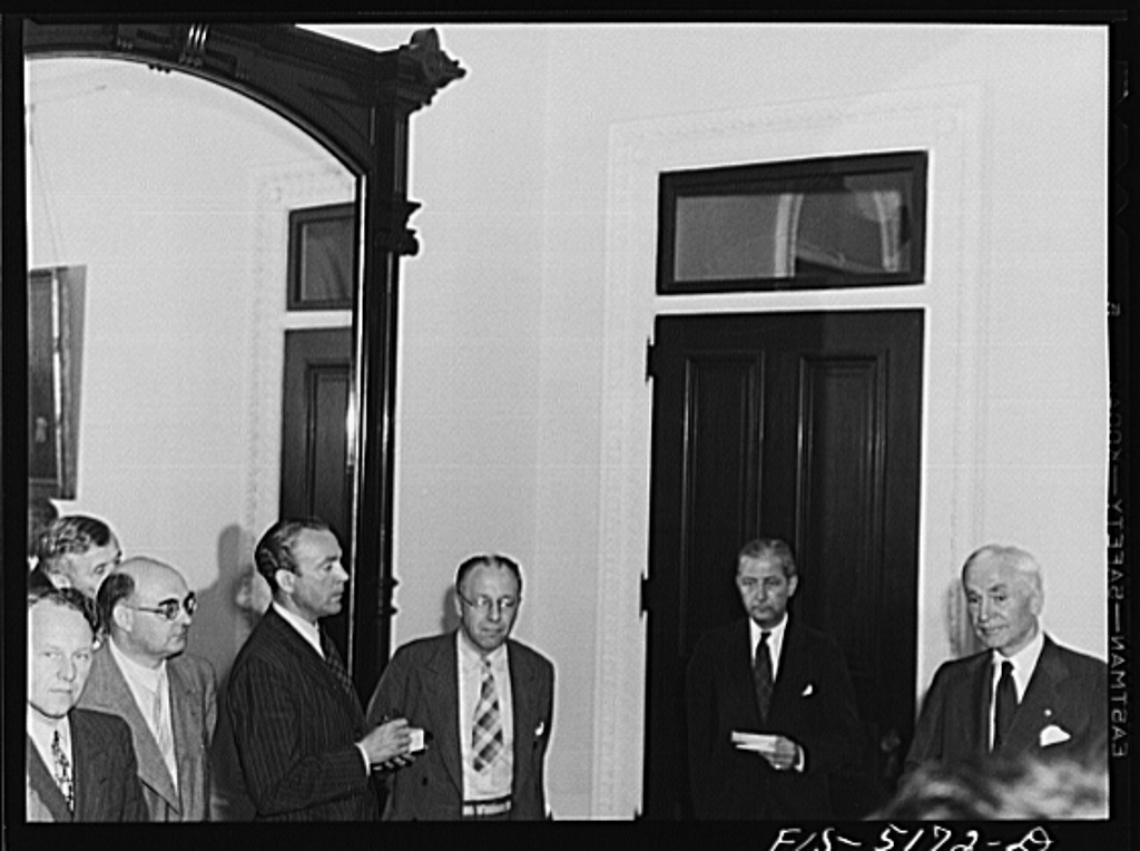 Washington, D.C. Messrs. Nasstrom, Hedman, Horne and Este, Swedish journalists on tour in the United States, attending Secretary Hull's press conference