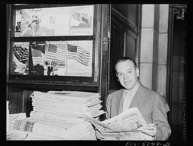 Washington, D.C. Mr. Vinde, a Swedish journalist, at the Union Station