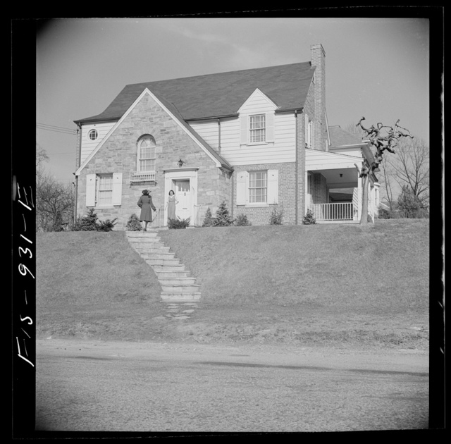 Washington, D.C. Negro home on the outskirts of the city which is owned by a doctor whose wife teaches in a Negro grammar school