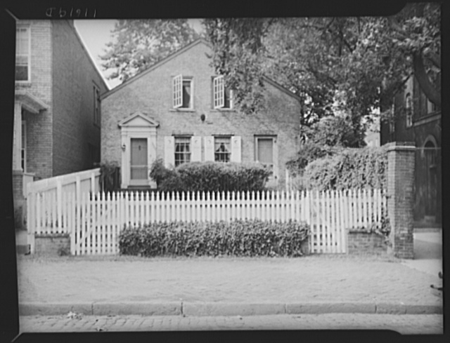 Washington, D.C. Old Georgetown house with picket fence in front