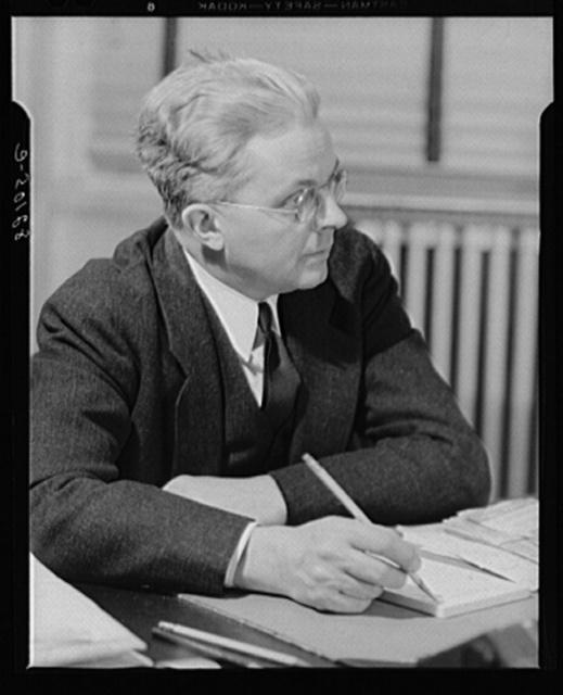 Washington, D.C. Portrait of Mr. Roy E. Stryker, photograph chief of the FSA (Farm Security Administration)