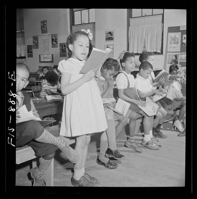 Washington, D.C. Reading lesson in a Negro elementary school