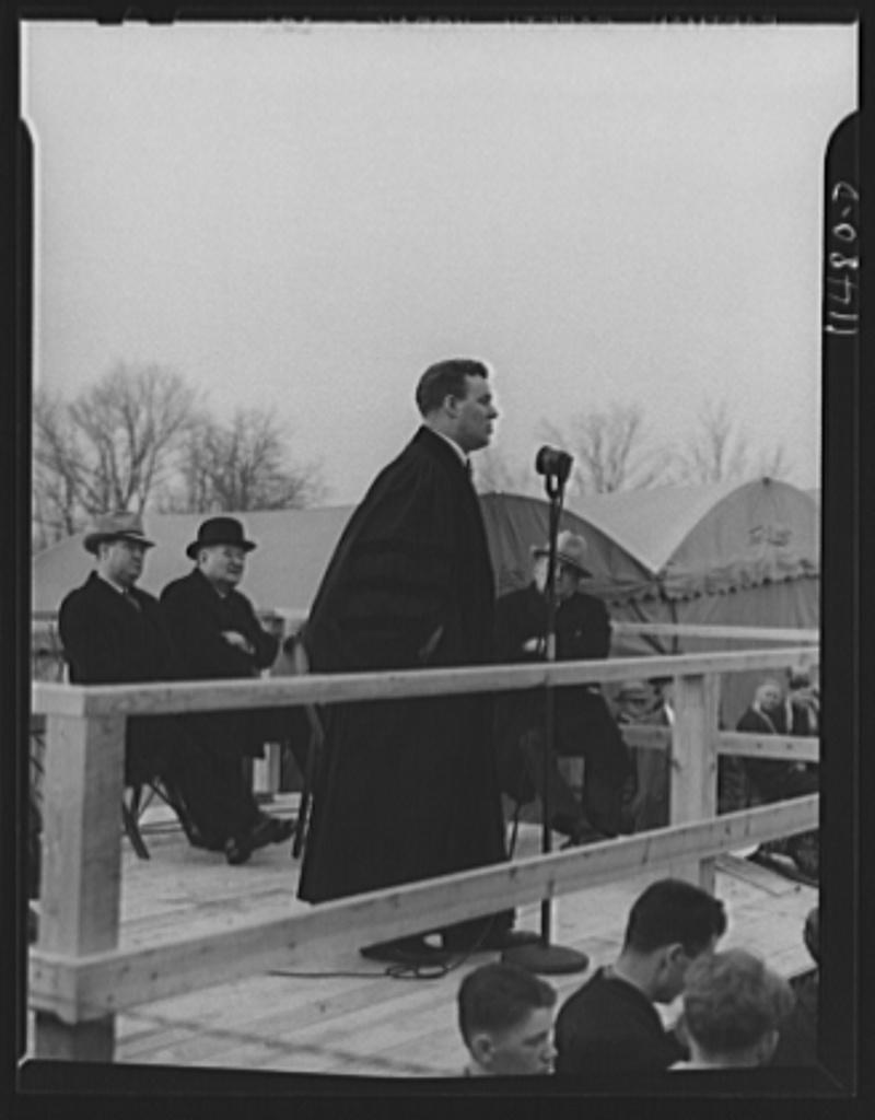 Washington, D C  Reverend Peter Marshall, pastor of the New York