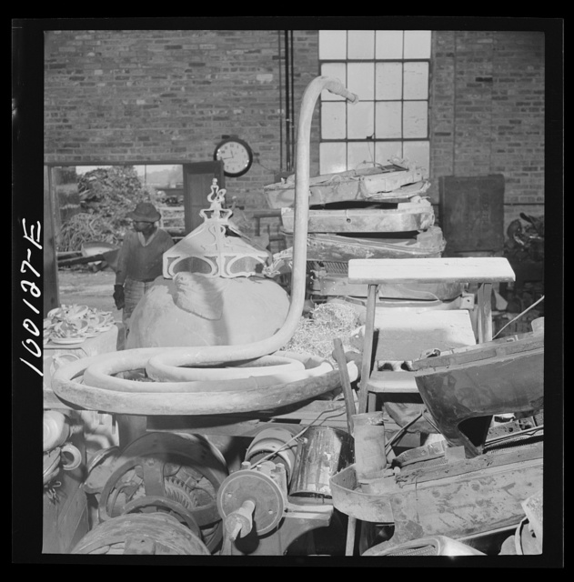 Washington, D.C. Scrap salvage campaign, Victory Program. Miscellaneous metal scrap in warehouse of a wholesale junk company