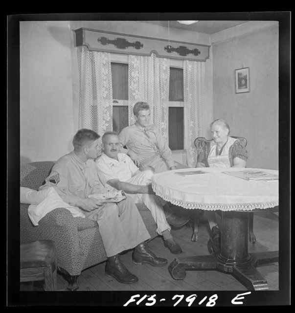 Washington, D.C. Sergeant George Camblair while on a visit home finds that his younger brother is at home also on a furlough from the army