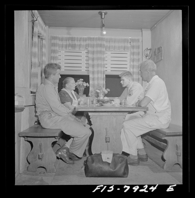 Washington, D.C. Sergeant George Camblair while on a visit home finds that his younger brother is at home also, on a furlough from the army