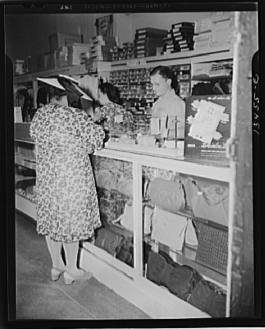 Washington, D.C. Shopper in a store at 7th Street and Florida Avenue, N.W.