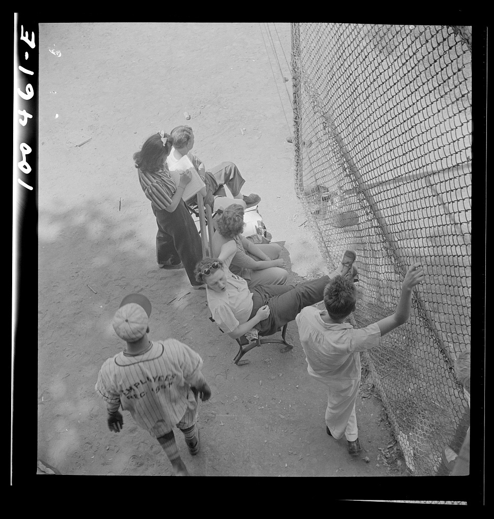 Washington, D.C. Spectators at a baseball game: wives, sweethearts and children of the players; passersby and regular fans