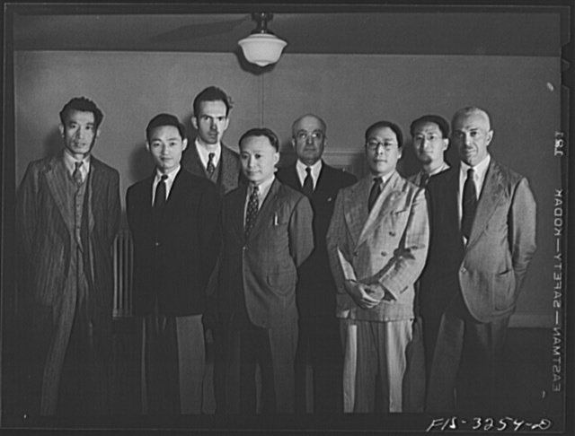 Washington, D.C. Staff of Chinese scholars in the Oriental Division of the Library of Congress