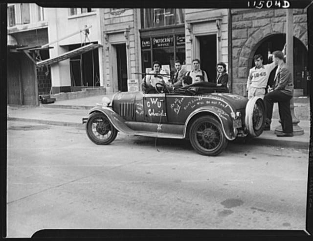 Washington, D.C. Student's car in front of University Club on K Street, N.W.