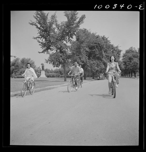 Washington, D.C. Sunday cyclist in East Potomac Park