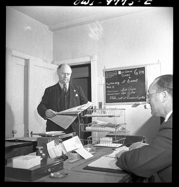 Washington, D.C. The Australian Legation. The mail room