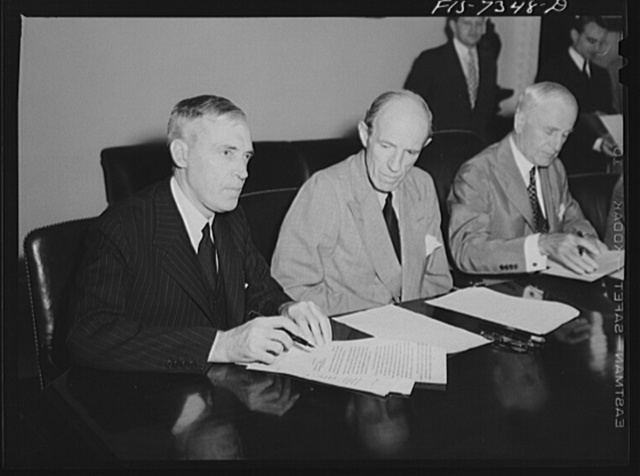 Washington, D.C. The Australian Minister, Lord Halifax, and Mr. Cordell Hull