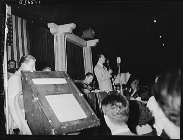 Washington, D.C. Vocalist and orchestra at the Uline Arena