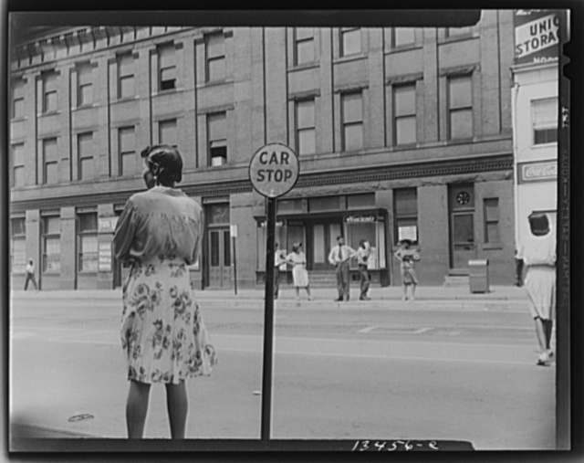 Washington, D.C. Waiting for the street car at 7th and Florida Avenue, N.W.