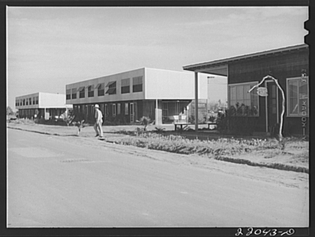 Weslaco, Texas. FSA (Farm Security Administration) camp. Clinic and labor homes. Rent is seven dollars per month