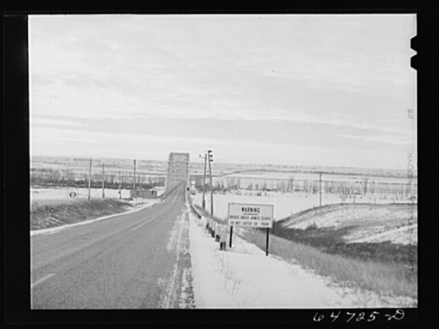 Williams County, North Dakota. Bridge across the Missouri River was guarded by the American Legion from Dec. 8th to lst of Feb. Guarding has now been discontinued