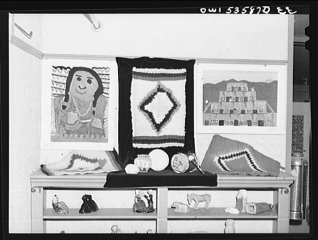 Wilmington, Delaware. Tower Hill School, a noted country day school for pupils from three to eighteen years of age. A display of art work by the pupils of the school