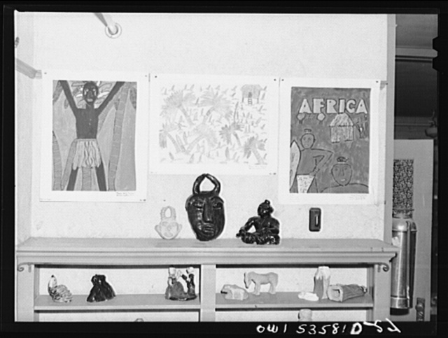 Wilmington, Delaware. Tower Hill School, noted country day school for pupils from three to eighteen years of age. A display of the art work of some of the pupils