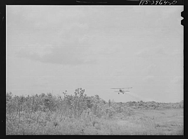 Wilson Dam, Alabama (Tennessee Valley Authority (TVA)). Planes spread insecticide to kill malaria-carrying mosquitoes