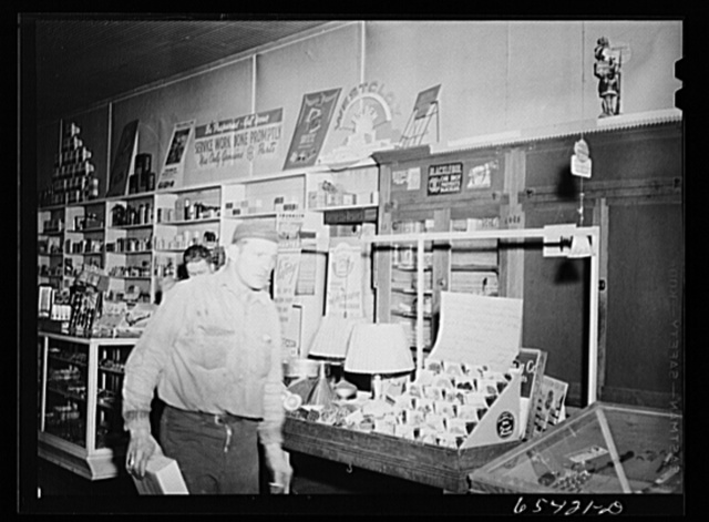 Wisdom, Montana. Interior view of the Basin Mercantile Company