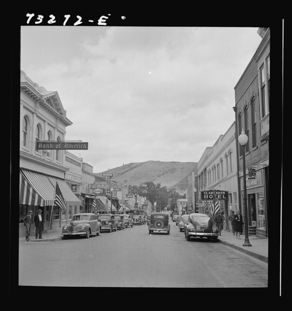 Yreka, California. On the main street. Yreka is the county seat of a county rich in mineral deposits