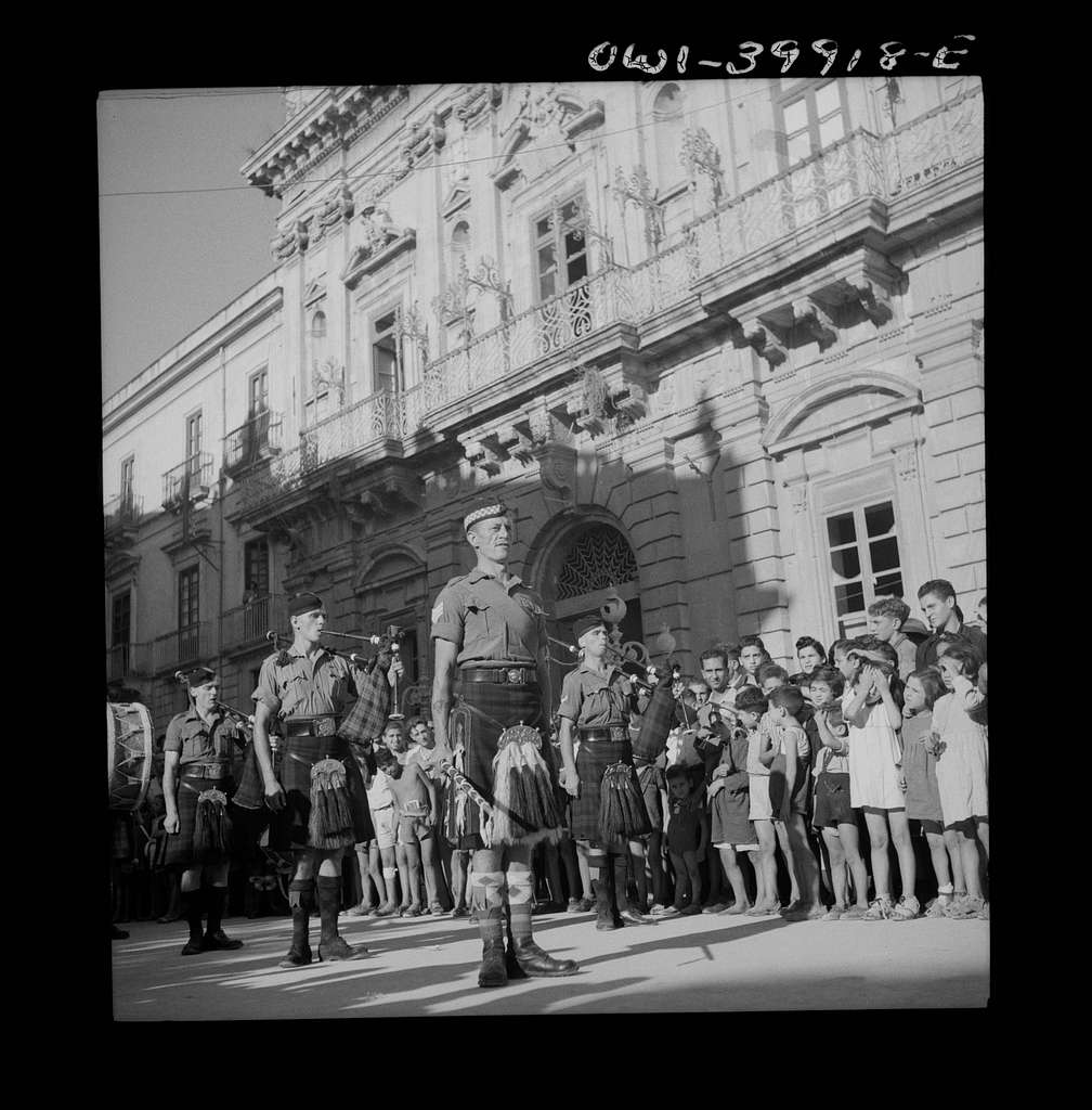 A band concert for Sicilians and Allied troops