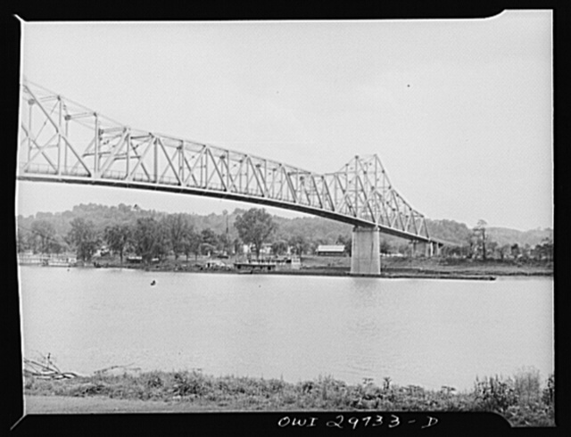 A bridge at the junction of the Kanawha and the Ohio River