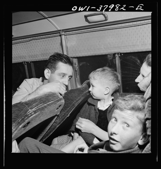 A Greyhound bus trip from Louisville, Kentucky, to Memphis, Tennessee, and the terminals. Bus passengers getting acquainted on Greyhound bus from Louisville to Nashville