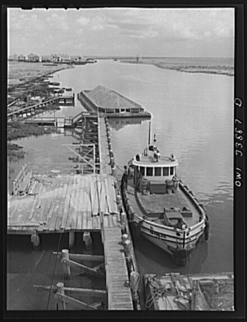 A tugboat which pulls sulphur barges from Grand Ecaille, to Port Sulphur, Louisiana