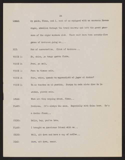 Alan Lomax Collection, Manuscripts, CBS-BBC, 1943, Transatlantic Call--People To People