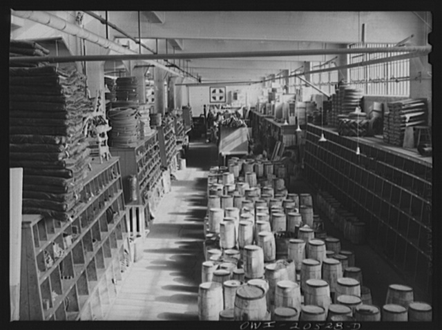 Albuquerque, New Mexico. Part of the Atchison, Topeka and Santa Fe Railroad store department. Over 35,000 items are kept on hand here