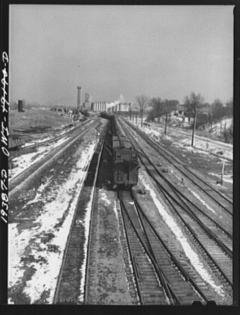 An Atchison, Topeka and Santa Fe Railroad train arriving from the west