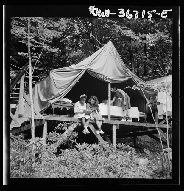 Arden, New York. Interracial activities at Camp Gaylord White, where children are aided by the Methodist Camp Service. Rest period