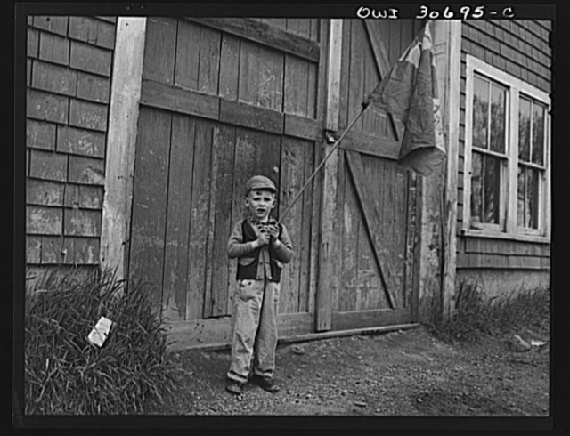 Ashland, Aroostook County, Maine. One small boy at the Memorial Day ceremonies was the only representative of Canadian war dead