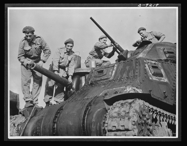 Australia in the war. Australian tank crews, trained in the latest methods and techniques from the world's battlefronts, are equipped with American tanks, provided under the lend-lease program