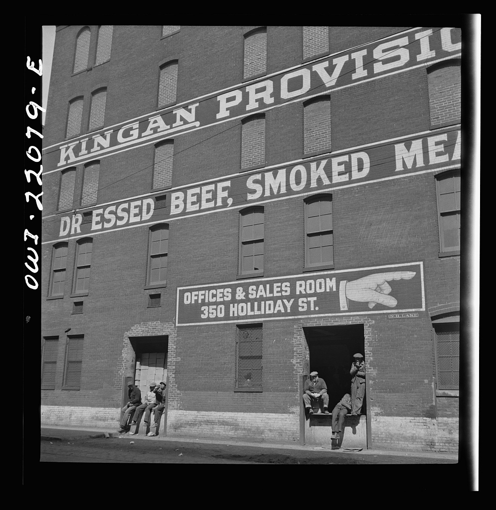 Baltimore, Maryland. A meat warehouse